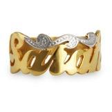 Gold Vermeil Custom Script Name Ring