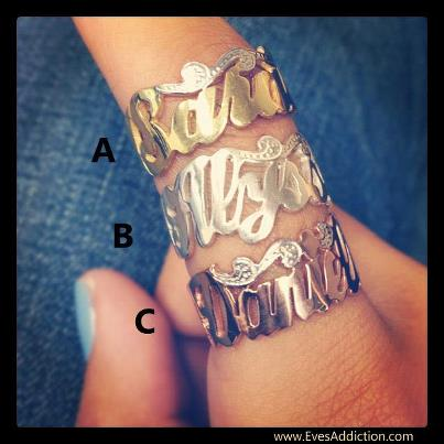 plate rings large jewelry stackers word nameplate ring amen name snash collections