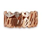 Rose Gold Vermeil Custom Script Name Ring