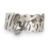 Sterling Silver Custom Script Name Ring