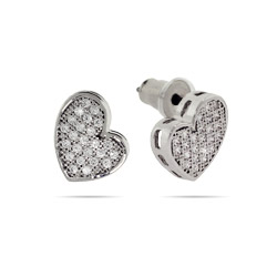 Katy Perry_Sparkling Micropave CZ Heart Stud Earrings