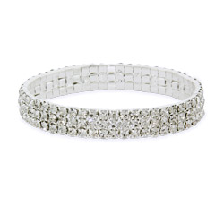 Katy Perry_Sparkling Three Row Crystal Tennis Bracelet