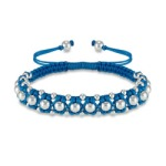 Beaded Turquoise Woven Friendship Bracelet
