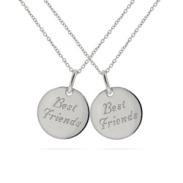 Engravable Sterling Silver Best Friends Necklace One For You - One For Me!