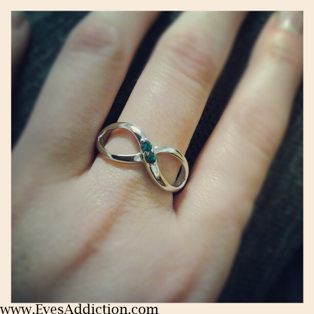 inifinity birthstone ring
