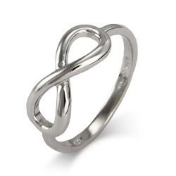 Tiffany Style Sterling Silver Classic Infinity Style Ring