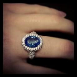 CZ Sapphire Ring
