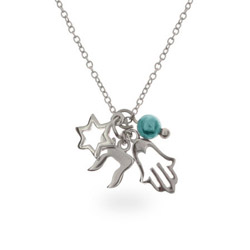 Magical Protection Sterling Silver Charm Necklace