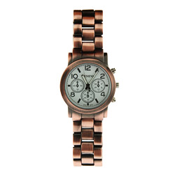 Designer Inspired Classic Rustic Copper Tone Ladies Watch