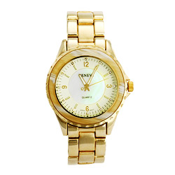 Designer Inspired Horn Inlay Boyfriend Style Watch