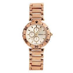Designer Inspired Modern Rose Gold Vintage Flair Watch