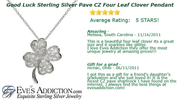 good luck clover pendant
